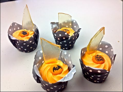 BROKEN GLASS CUP CAKES - Halloween Recipe