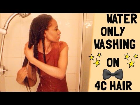 Water Only Washing on 4C Hair