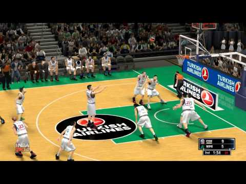 NBA 2K14 #Gameplay HD - Cska Moscow vs Montepaschi Siena