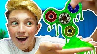 DIY FLUFFY SLIME FIDGET SPINNER *ACTUALLY SPINS* (How To Make Giant Rare Slime Fidget Spinner Toys)