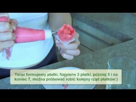 Jak zrobić różę na tort - instrukcja