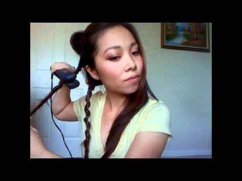 Làm tóc xoăn bằng máy ép (Kiểu 2)