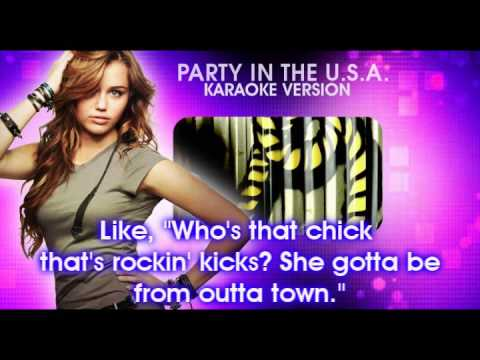 party in the usa miley cyrus karaoke instrumental