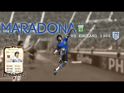 MARADONA GOAL OF THE CENTURY VS ENGLAND | FIFA 14 WORLD CUP