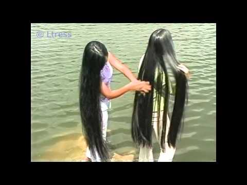 Ltress commission - Hong and Van's knee length silky hair by the lake