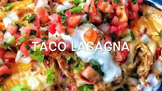 Easy as hell I don't feel like cooking taco lasagna !!!