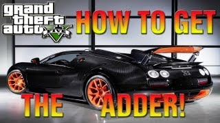 GTA 5 Secret Cars How To Get The Adder! (Bugatti Veyron
