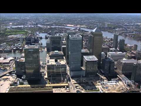 Canary Wharf - Aerial HD Footage