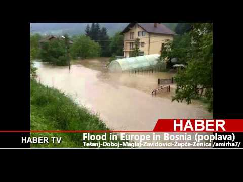 Flood (Poplave) in Europe in Bosnia 15.5.2014.