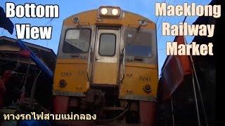 Bottom View Maeklong Railway Market