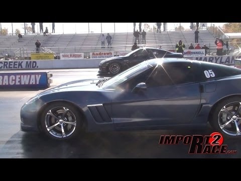 Corvette Gran Sport vs 900hp+ GT-R