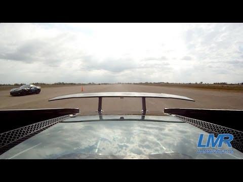 Twin Turbo Lamborghini vs 1200hp Z06 Vette