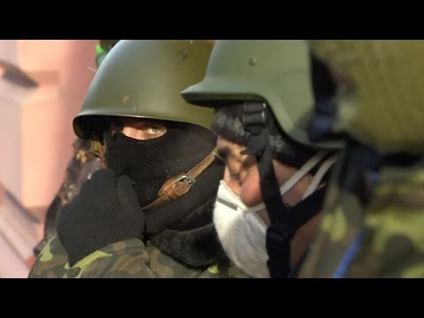 AN UNEASY TRUCE IN KIEV AS PROTESTS SPREAD EAST IN UKRAINE - BBC NEWS