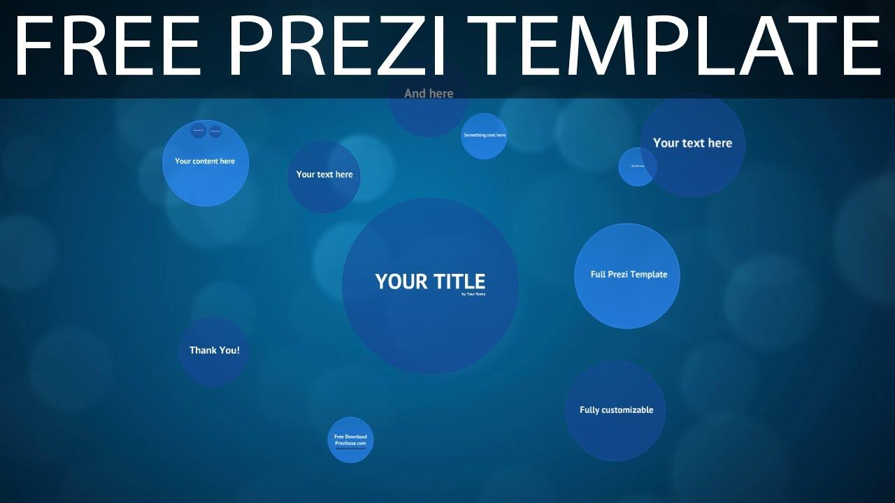 Blue circles free prezi template youtube