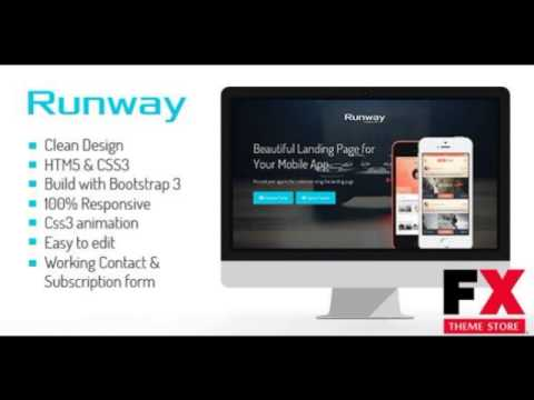 preview runway responsive app landing page template tforest youtube. Black Bedroom Furniture Sets. Home Design Ideas