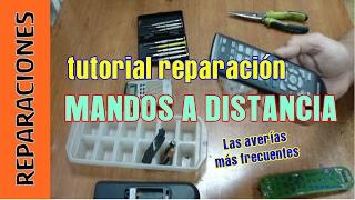 Cómo reparar mandos a distancia de TV DVD Sonido Aire Acondicionado.