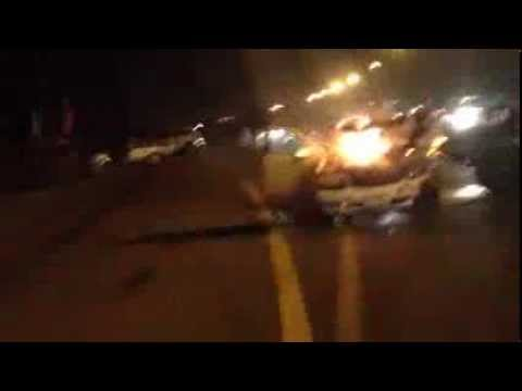 Buggy and Mercedes crash on Hatta to Oman Road in UAE