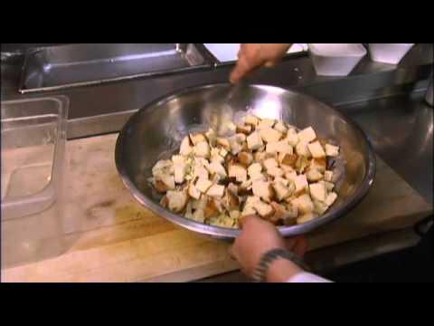 Simple apple and raisin bread pudding