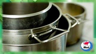 Limpiar las ollas y sartenes de acero inoxidable
