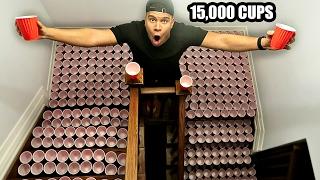 REVENGE PRANK ON MOM! (10,000+ RED CUPS)