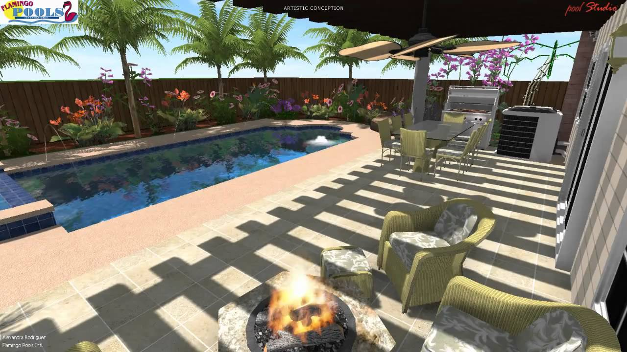 3d swimming pool design puerto rico youtube for 3d swimming pool design