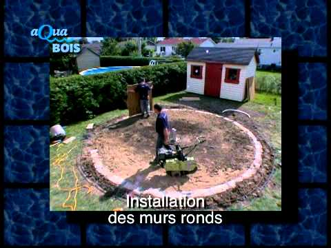 Piscine ronde hors sol ou semi creus e youtube for Piscine hors sol installation
