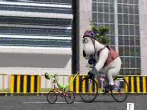 Medveď Bernard - Cyklista