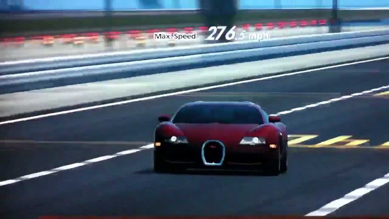 gt5 bugatti veyron top speed test youtube. Black Bedroom Furniture Sets. Home Design Ideas