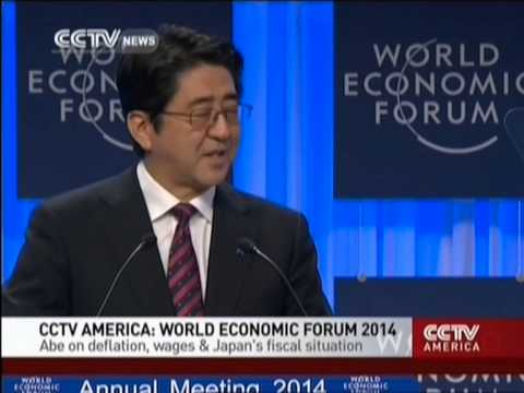 Abe on deflation, wages & Japan's fiscal situation in World Economic Forum 2014