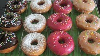 Bánh Donuts Chiên 4 màu