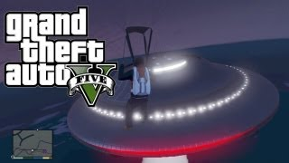 GTA 5 Flying UFO Easter Egg #3! (Grand Theft Auto 5