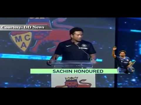 Sachin Tendulkar felicitated by MCA