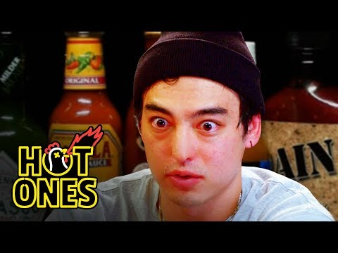 Joji Sets His Face on Fire While Eating Spicy Wings  Hot Ones