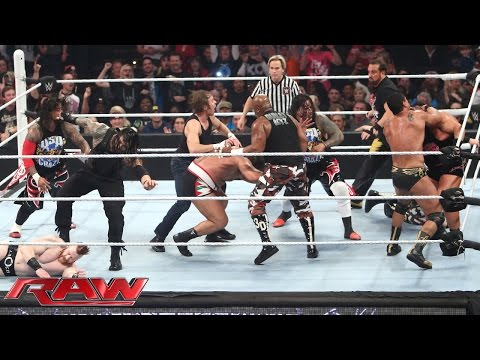 WWE Raw 7 décembre 2015 - Tag team fatal 4 way match
