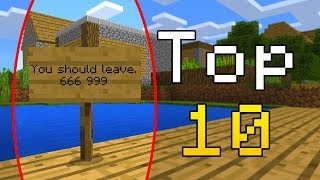 Top 10 Most Haunted Places in Minecraft! (Haunted Minecraft Secrets)