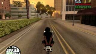 Honda Fan 125 Bodão no grau no GTA San Andreas.