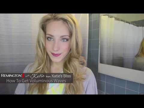 Voluminous Waves with Remington's T|Studio SILK Ceramic Heated Clip Setter