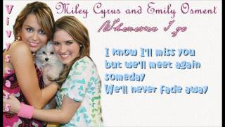 Miley Cyrus & Emily OsmentWherever I Go Lyrics On Screen