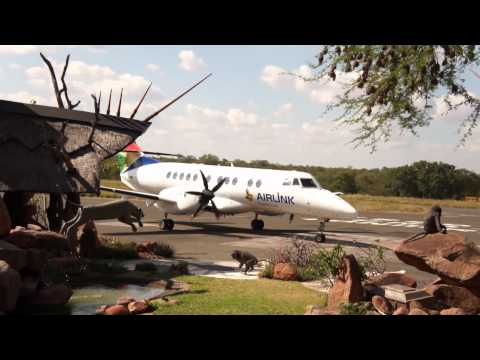 Arrival of the SA Airlink flight  from Johannesburg to Phalaborwa