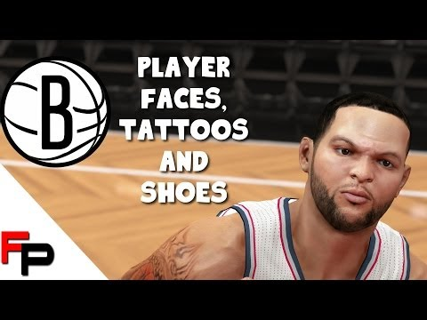 NBA 2K14 - Brooklyn Nets - PS4 - Player Faces,Tattoos and Shoes