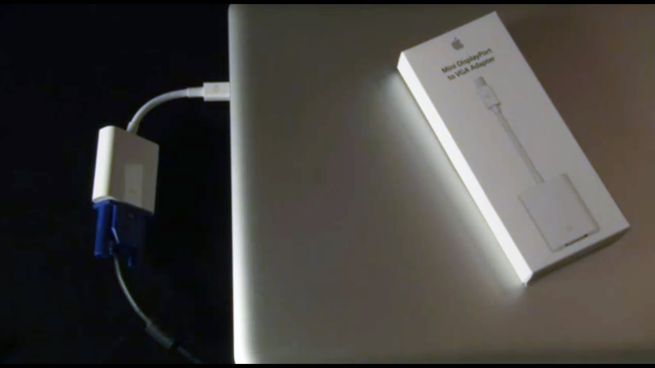 Apple displayport to vga adaptor macbook to overhead for Apple video projector