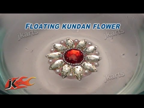 099 How to make Floating Kundan Flower   JK Arts