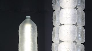 Como hacer una lámpara con garrafas