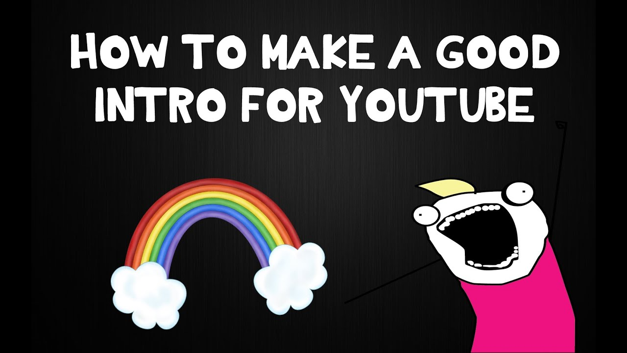 How to make a good intro for youtube youtube