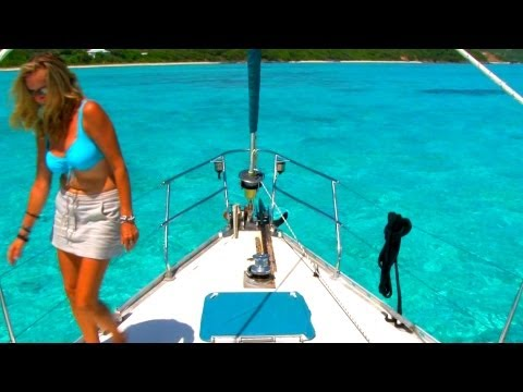 Sail from The Pools of Canouan, to Tobago Cays where Pirates was filmed! Grenadines, Caribbean