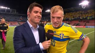 Crazy interview with John Guidetti (with English subtitles) - TV4 Sport - Duration: 1:09.