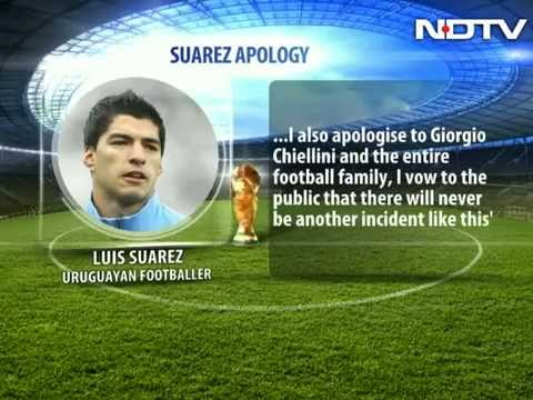 Luis Suarez apologizes for biting opponent Giorgio Chiellini at FIFA World Cup 2014