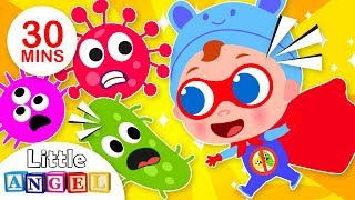 Super Baby John Defeats Germs   +More Nursery Rhymes & Kids Songs by Little Angel