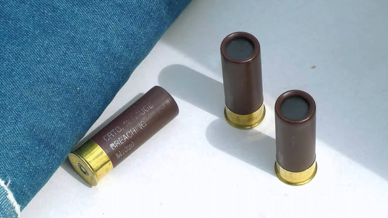 Shotgun breaching round for home defense gel test for 12 gauge door breacher