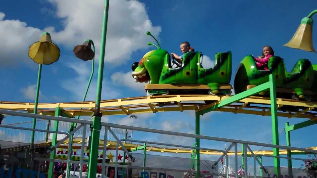 Junior And Lucas On The Caterpillar Roller Coaster